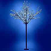 600 Blue LED Pre Lit Cherry Blossom Tree