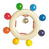 Heimess 733840 Wooden Ring Rattle (Bell)