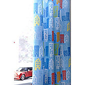 Catherine Lansfield Home Kids Cotton Rich Trucks Tab Top Cotton Rich Curtains Multi 168cm wide x 183cm drop (66x72 inches)