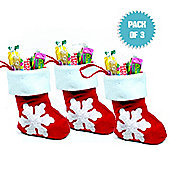 Mini Christmas Stocking (pack of 3)