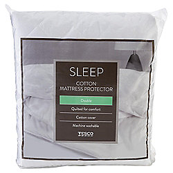 Tesco 100% Cotton Single Mattress Protector