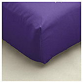 Tesco Fitted Sheet Purple, Single