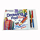 The Entertainer Drawing Pad with Pencils