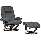 Sofa Collection Porto Swivel Chair With Massage And Heat Function And Footstool - Charcoal