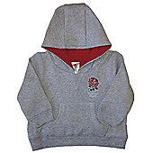 England RFU Rugby Baby Over The Head Hoodie - Grey
