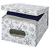 Storeasy Large Garment Box, White Leaf