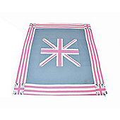 Woven Magic Union Jack Pink Duck Table Cloth - Small