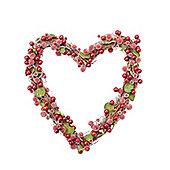 Red Berry Heart Christmas Door Wreath