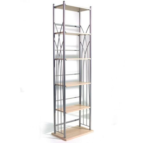 Dakota - 100 Dvd Blu-ray / 150 Cd Media Storage Tower Shelves - Silver