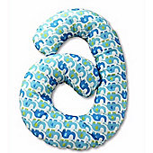 By Carla Cuddle Me Pillow (Blue Elephant)