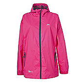 Trespass Ladies Qikpac Waterproof Packaway Jacket - Pink