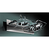 De Majo San Siro Wall / Ceiling Light - Lacquered White-Chrome