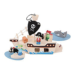 Bigjigs Toys Mini Pirate Ship Playset