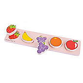 Bigjigs Toys BB065 Chunky Lift and Match Fruit Puzzle