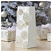 Gold Lace Doily Christmas Bottle Bag