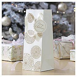 Gold Lace Doily Christmas Bottle Bag