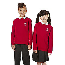 Unisex Embroidered School Sweatshirt years 07 - 08 Red