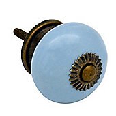 Ceramic Cupboard Drawer Knob - Blue