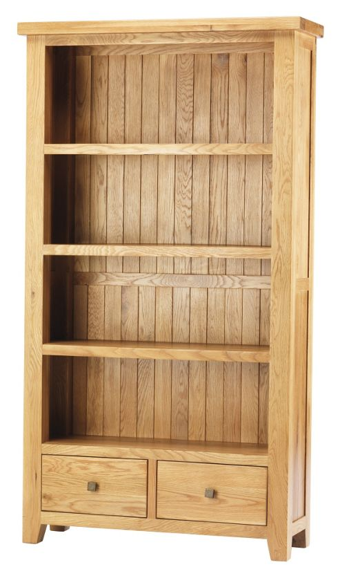 Thorndon Taunton Large Bookcase in Medium Oak