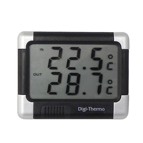 In/out thermometer black/silver