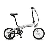 Orbita Flex-16 6 Speed Lightweight Aluminium Folding Bike (Light Grey)