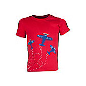Air Show Kids Childrens Boys Cotton Printed Short Sleeve Tee T-Shirt Tee Shirt - Red