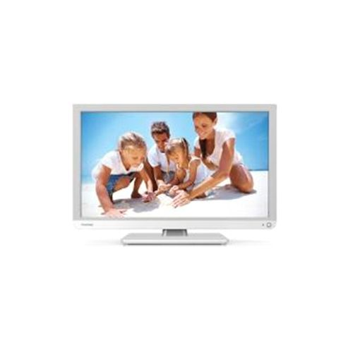 Toshiba 24D1334B (24 inch) Full HD LED Television with Built-In DVD Player 250cd/m2 1920 x 1080 8.5ms (White)