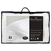 Kings & Queens Memory Foam and Microfibre Pillow