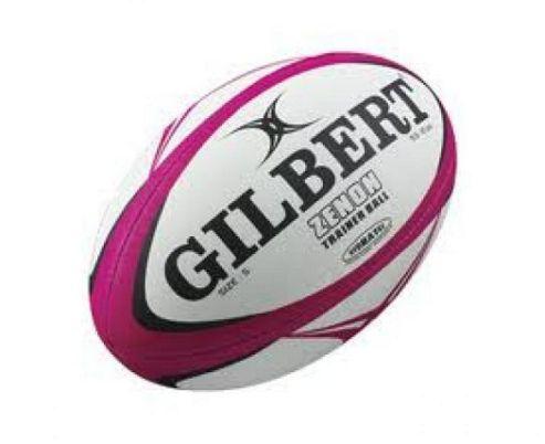 Gilbert Mens Zenon Training Rugby Ball Size 5 Fluoro