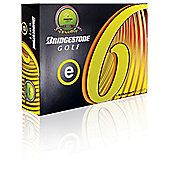 Bridgestone Mens E6 Straight Yellow Golf Balls (Dozen)