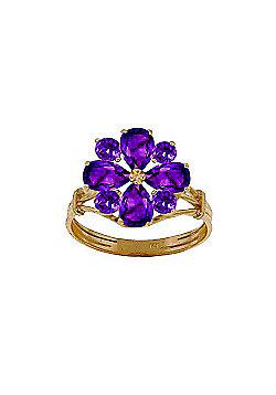 QP Jewellers 2.43ct Amethyst Rafflesia Ring in 14K Gold