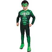 Child Muscle Chest Green Lantern Super Hero Costume Medium