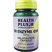 Health Plus Co Enzyme Q10 60mgVegan 60 Veg Capsules