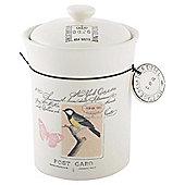 Tesco Vintage Postcard Tea Canister