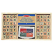 Wooden Alphabet Stamp Set - Melissa & Doug