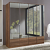 Wimex Imago 4 Door Mirrored Wardrobe