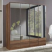 All Home Imago 4 Door Mirrored Wardrobe