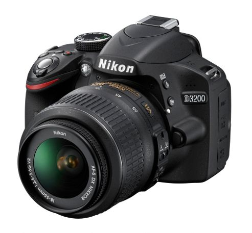 Nikon D3200 Digital SLR Camera Kit with 18-55mm VR Lens (Black)