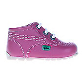 Kickers Kick Hi Baby Toddler School Shoe Boot Pink - Pink