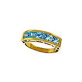 QP Jewellers 2.25ct Blue Topaz Prestige Ring in 14K Gold