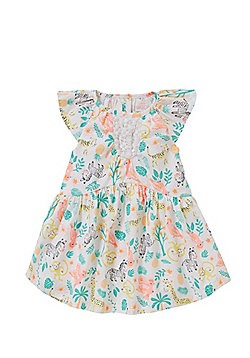 Pumpkin Patch Safari Animals Print Dress - Multi