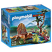 Playmobil Dimetrodon with vegetation