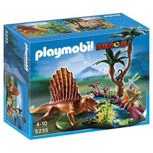 Playmobil Dimetrodon with vegetation