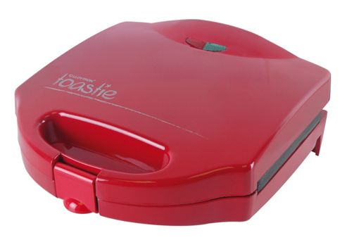 Home Essence 2 Slice 'Toastie' Sandwich Toaster in Red