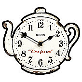 Jones & Co Teapot Wall Clock