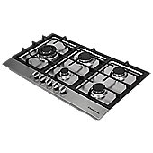 Russell Hobbs RH86GH701SS, 5 Burner Gas Hob, 86cm Wide, Stainless Steel