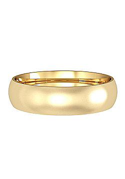 18ct Yellow Gold 5mm Court Satin-Brushed Wedding Ring