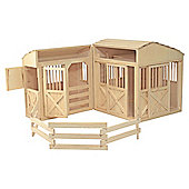 Melissa & Doug Folding Wooden Horse Stable