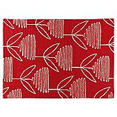 Tesco Opal Flower Rug 160X230 Red