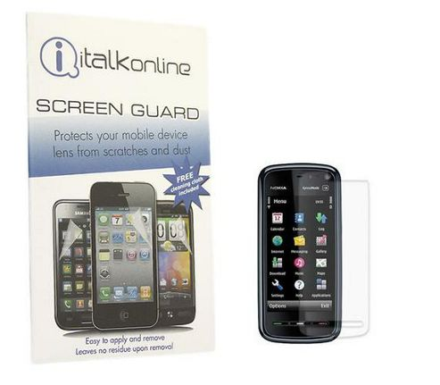 iTALKonline S-Protect LCD Screen Protector and Micro Fibre Cleaning Cloth - For  Nokia 5800